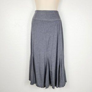 Athleta Pleated Stretch Knit Pull-On Maxi Skirt
